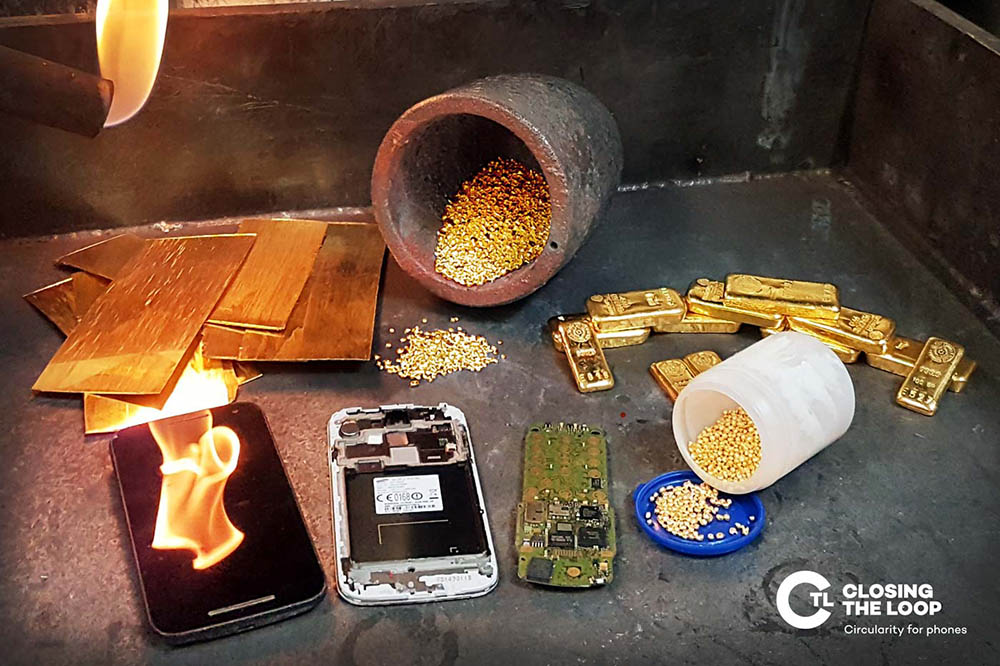 Urban mined gold in jewellery