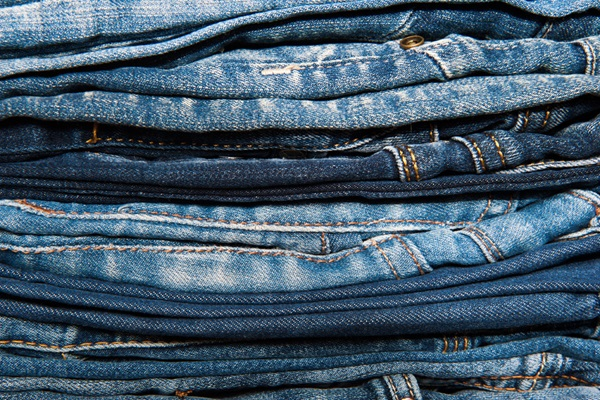 Stack of jeans.