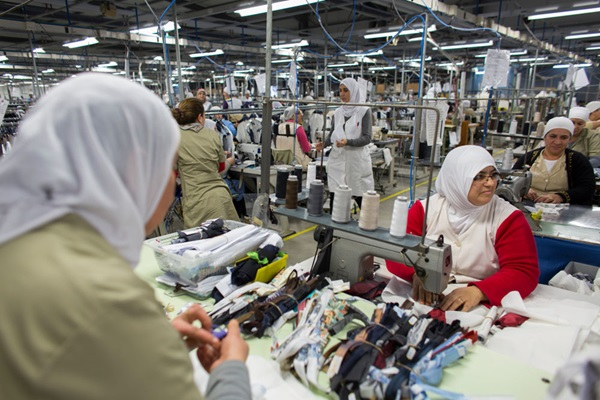 Factory workers clothes and textiles